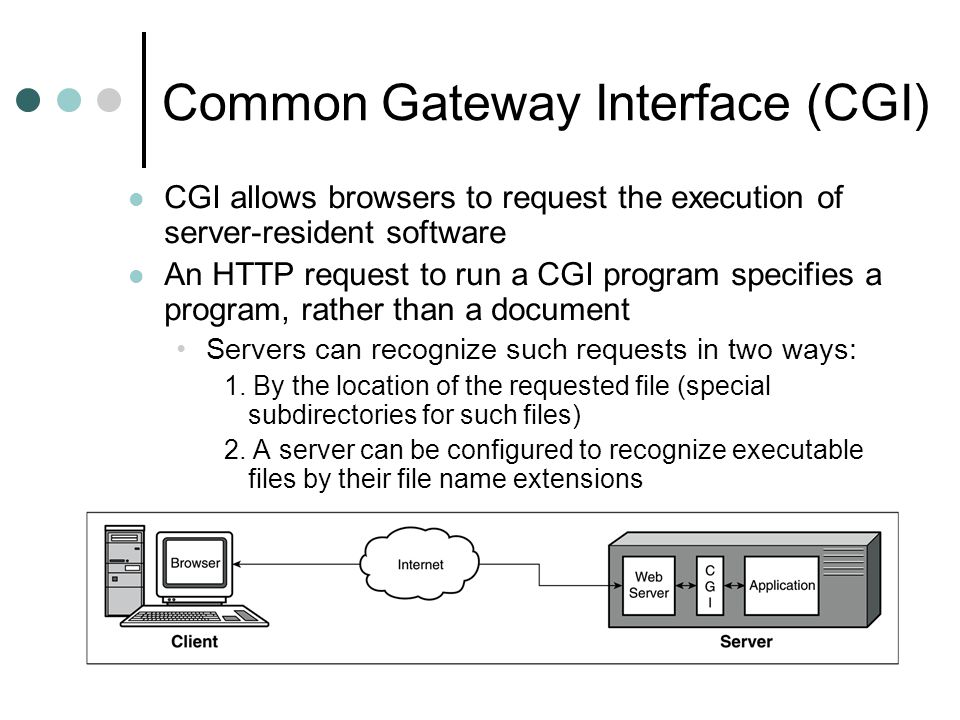 Common Gateway Interface (CGI)