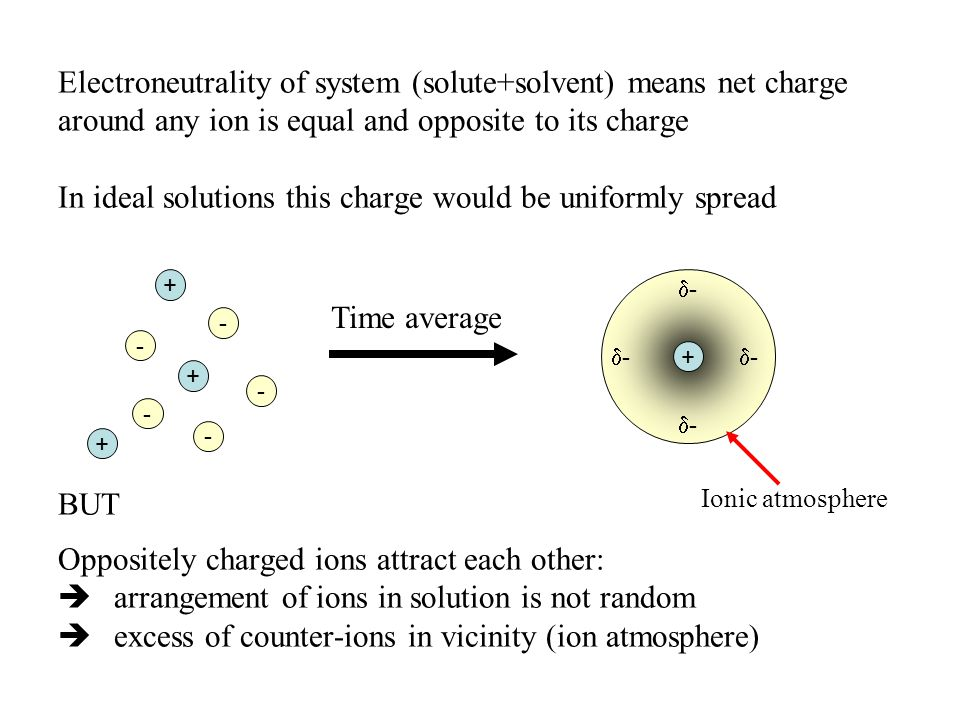 Electroneutrality of system (solute+solvent) means net charge