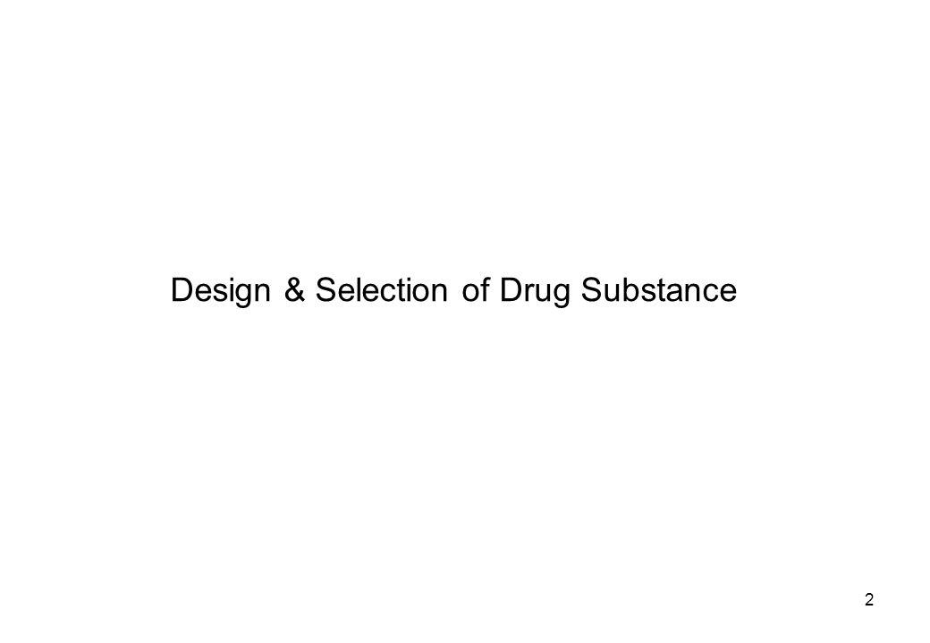 Design & Selection of Drug Substance