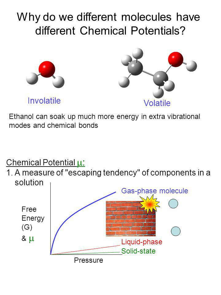 Why do we different molecules have different Chemical Potentials
