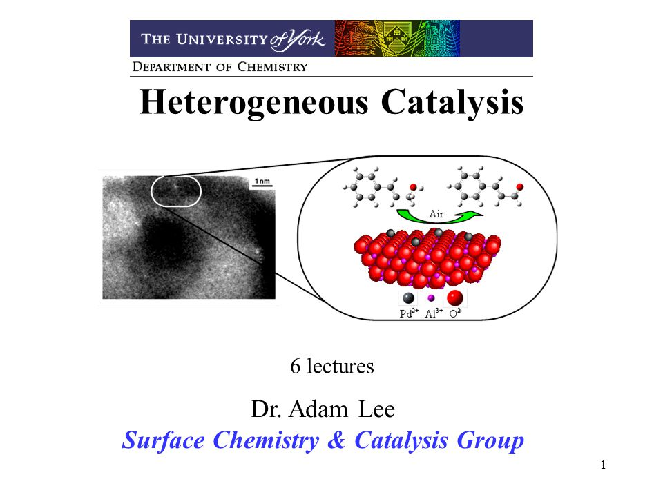 Heterogeneous Catalysis Surface Chemistry & Catalysis Group