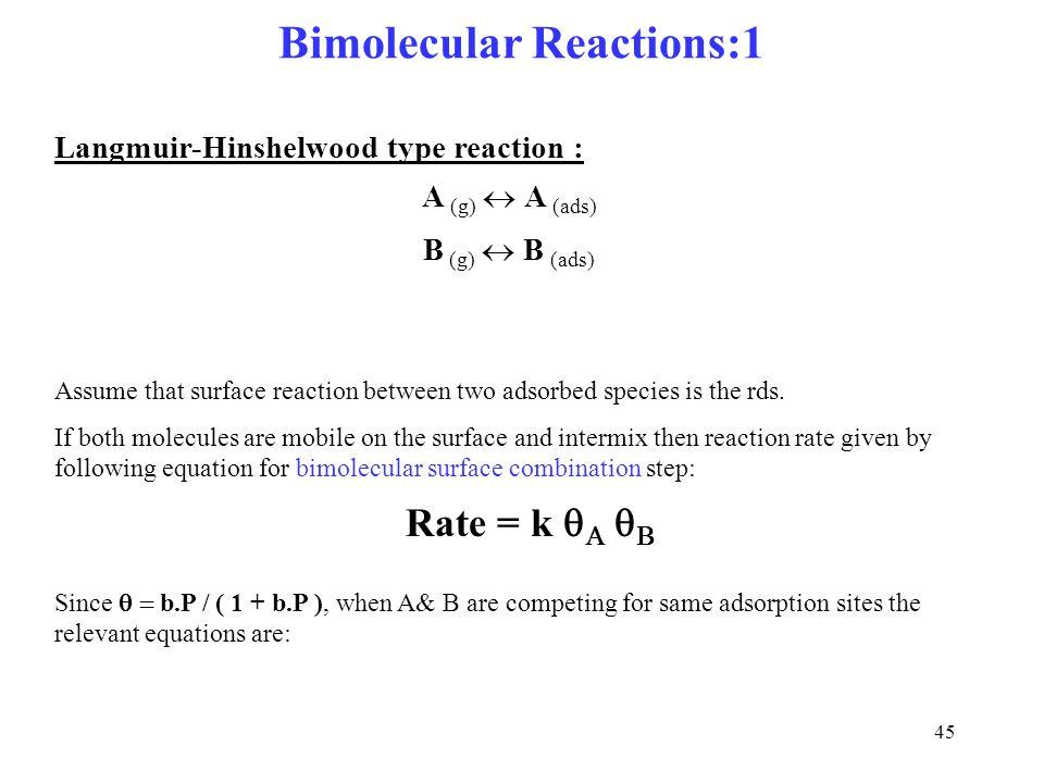 Bimolecular Reactions:1