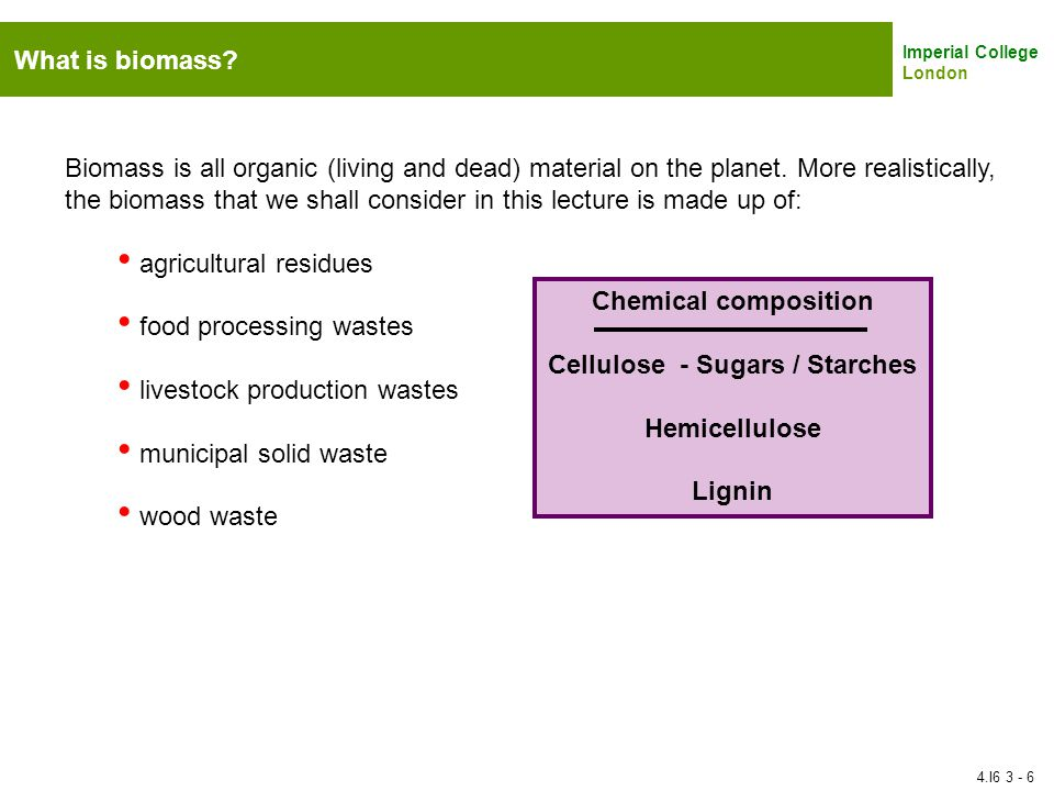 Cellulose - Sugars / Starches
