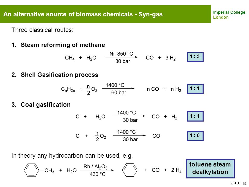 toluene steam dealkylation