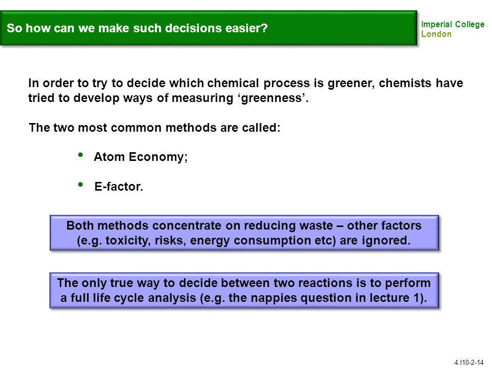 So how can we make such decisions easier