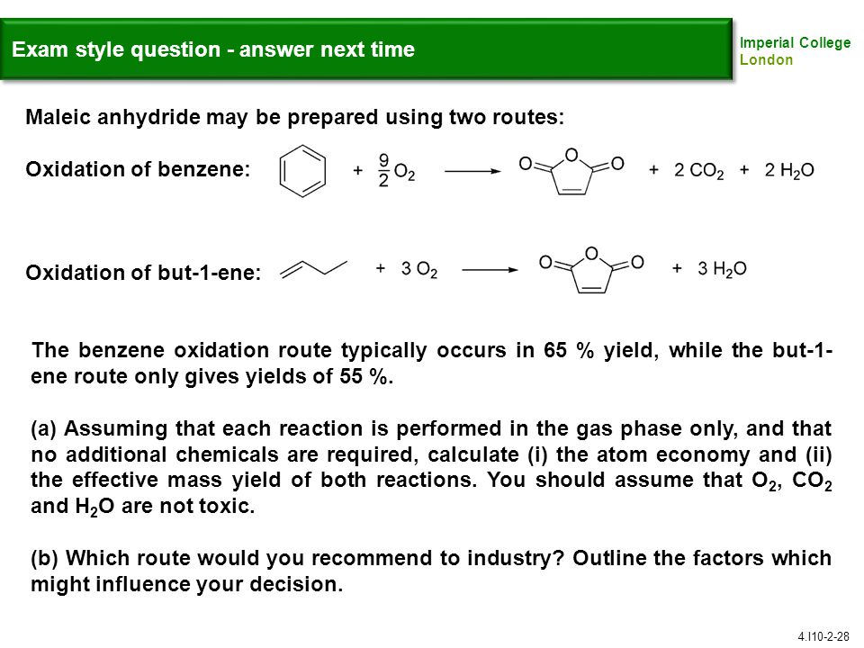 Exam style question - answer next time