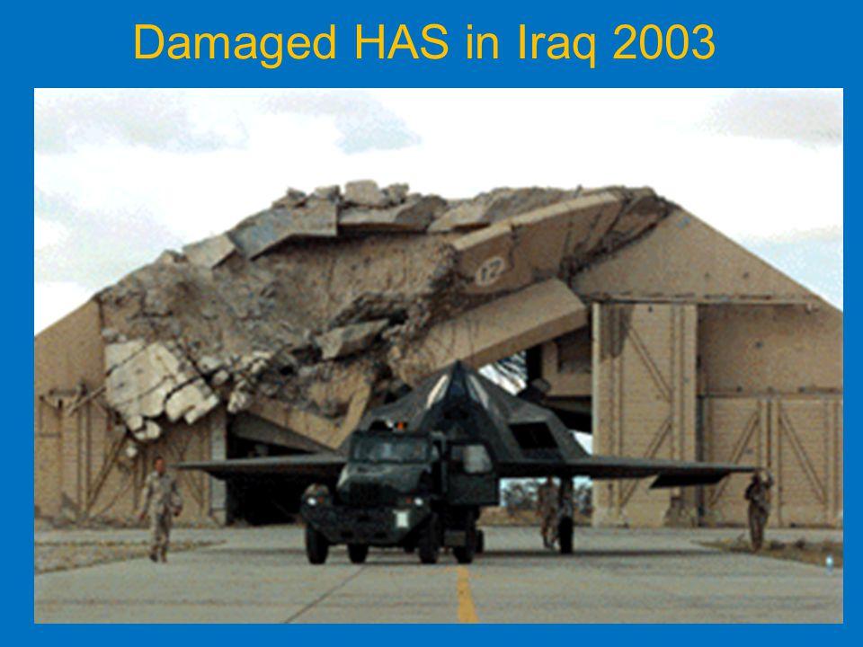 Damaged HAS in Iraq 2003