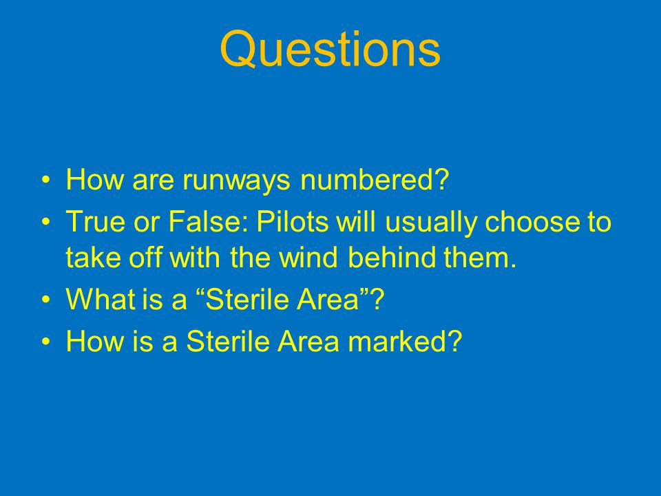 Questions How are runways numbered