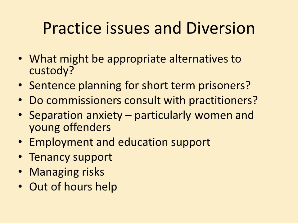 Practice issues and Diversion