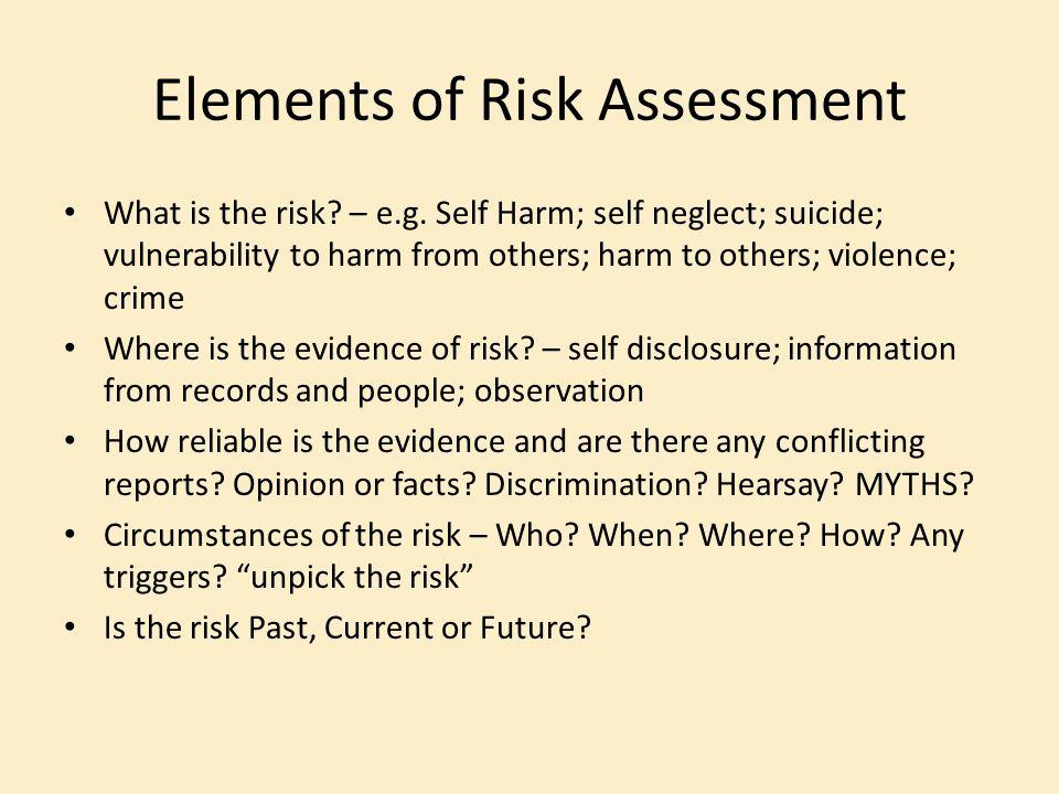 Elements of Risk Assessment
