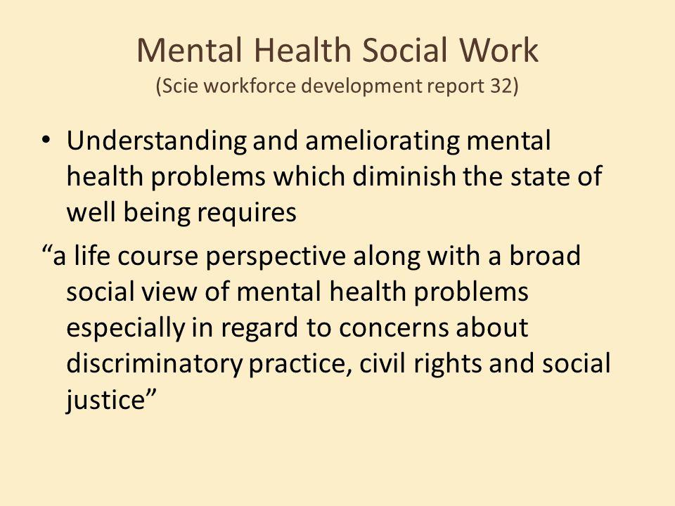 Mental Health Social Work (Scie workforce development report 32)