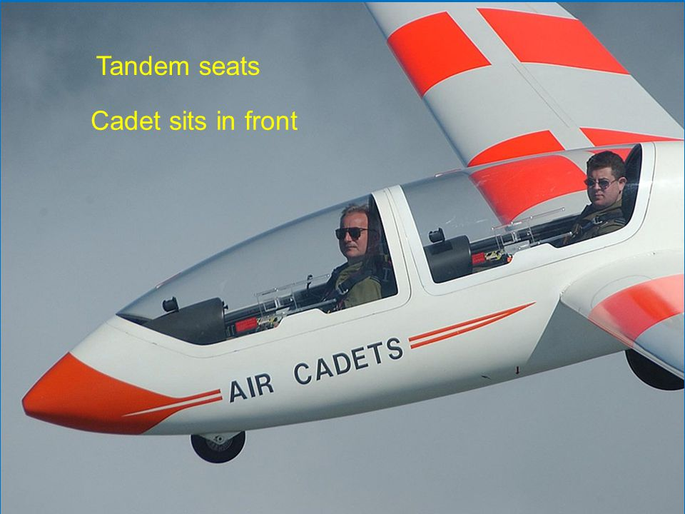 Tandem seats Cadet sits in front