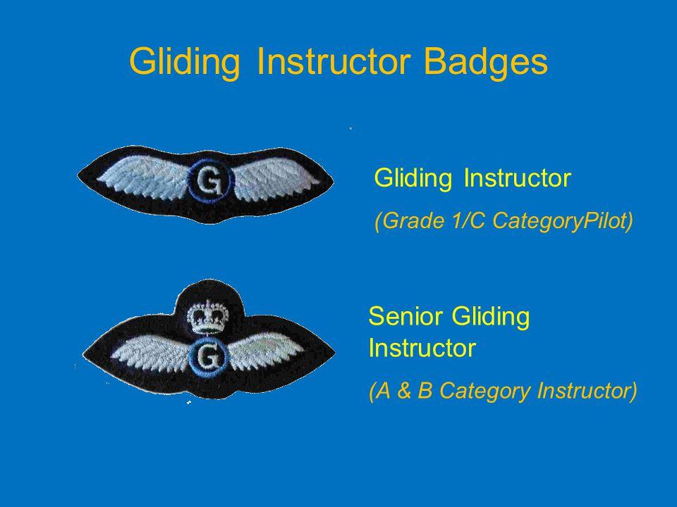 Gliding Instructor Badges