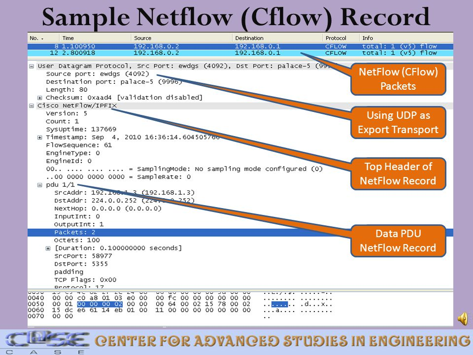 Sample Netflow (Cflow) Record