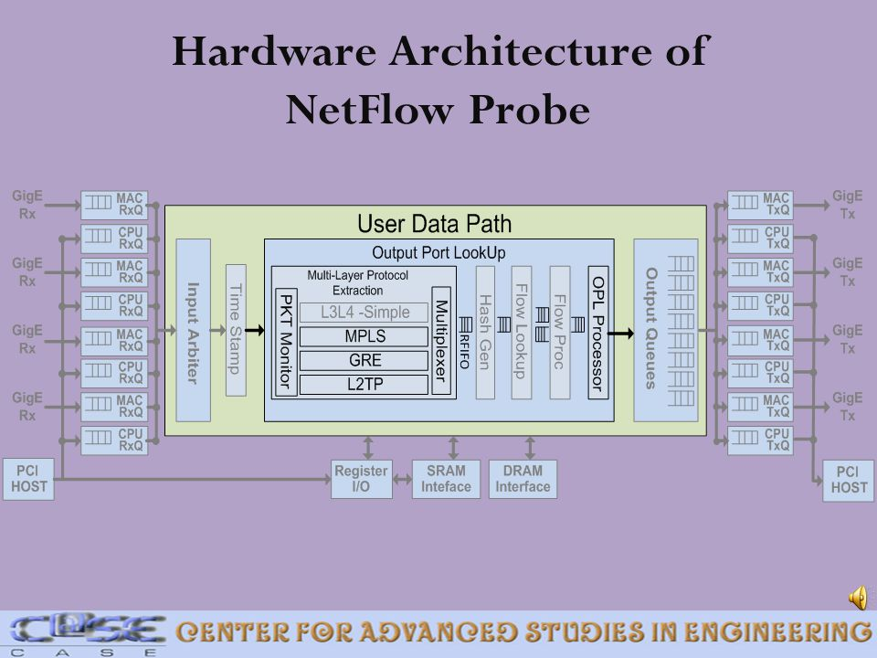 Hardware Architecture of NetFlow Probe