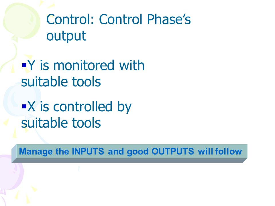 Control: Control Phase's output