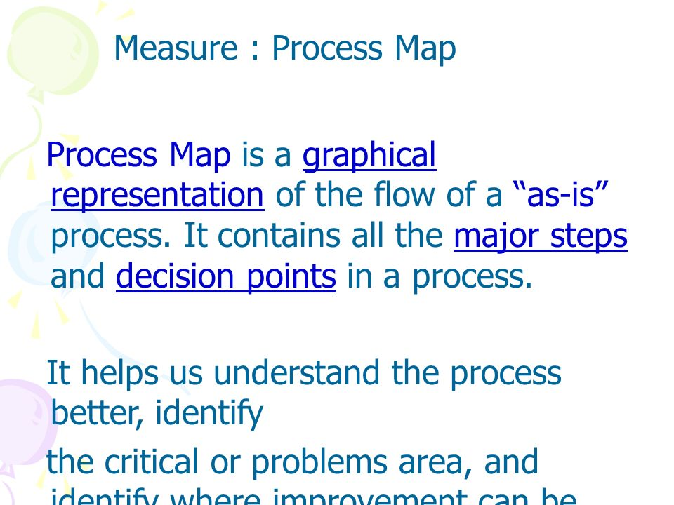 Measure : Process Map