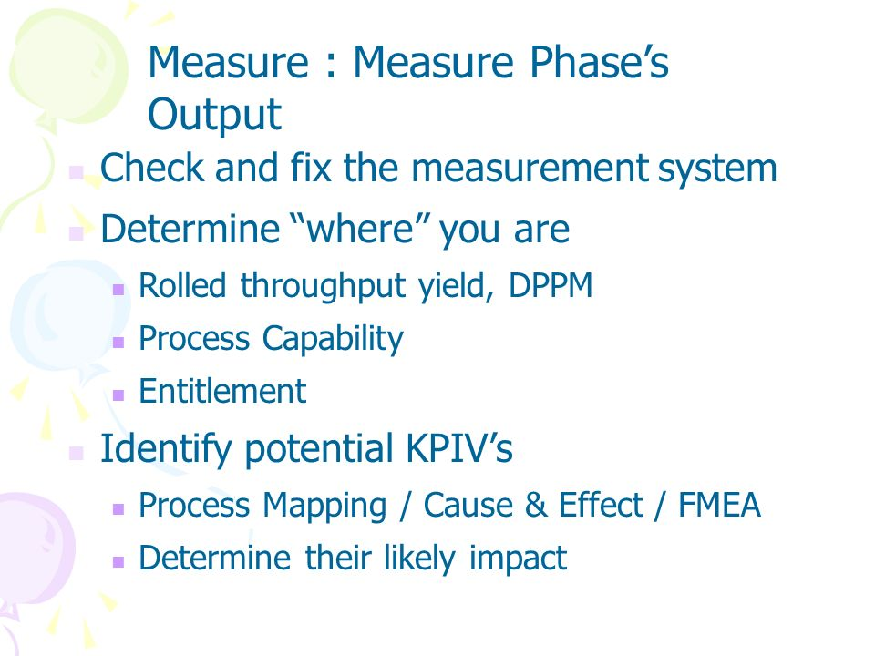Measure : Measure Phase's Output