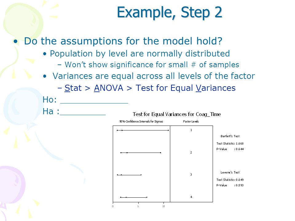 Example, Step 2 Do the assumptions for the model hold