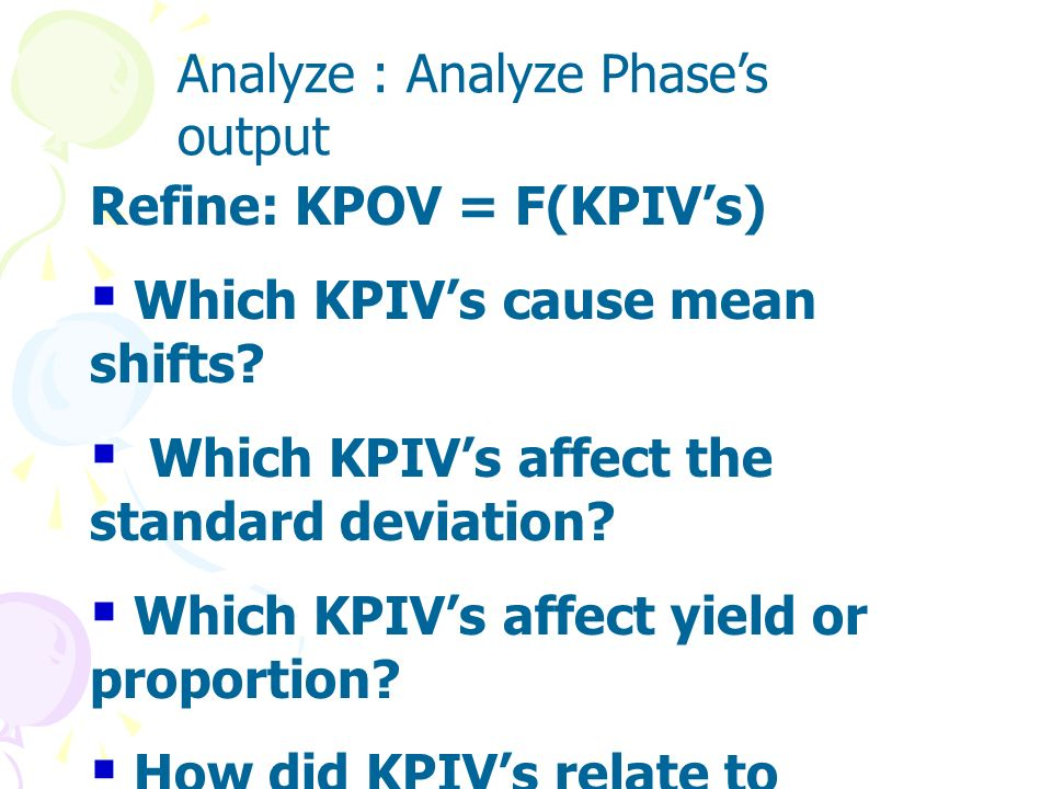 Analyze : Analyze Phase's output