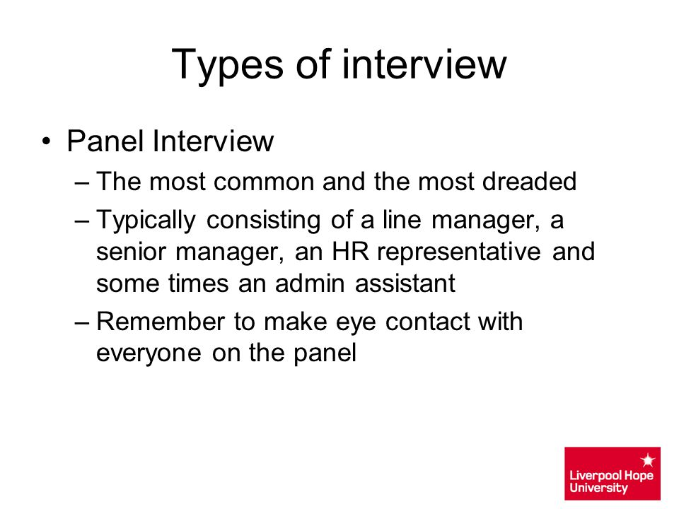 Types of interview Panel Interview