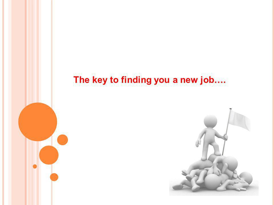 The key to finding you a new job….