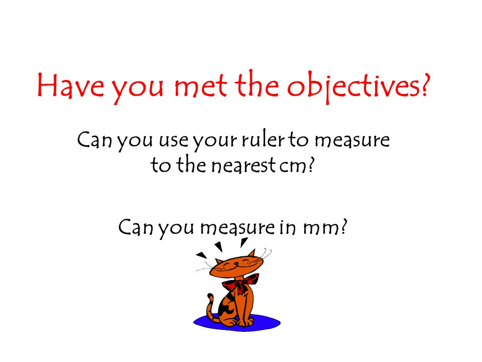 Have you met the objectives