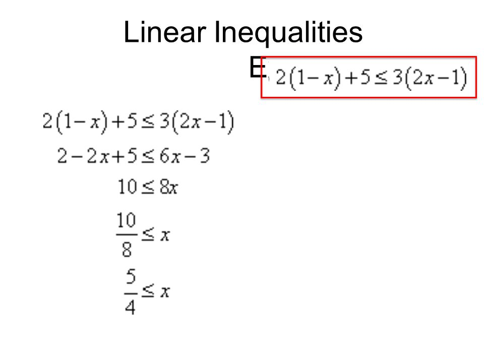 Linear Inequalities Example