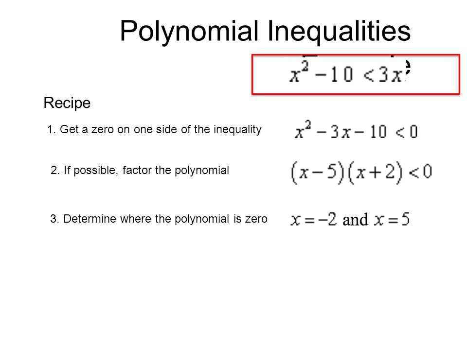 Polynomial Inequalities Example