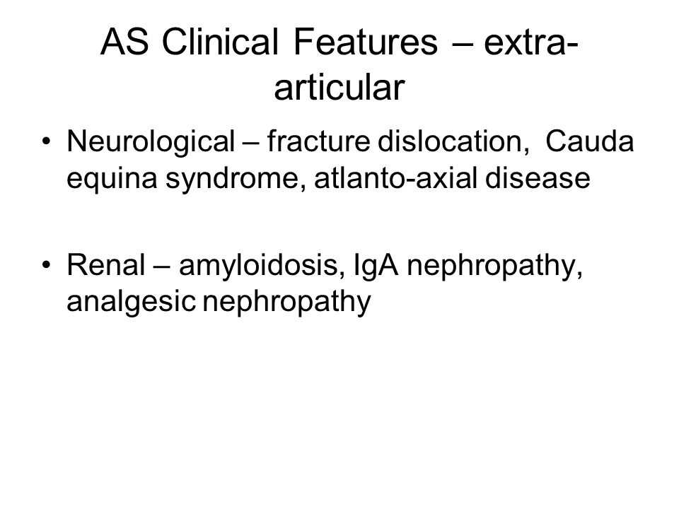 AS Clinical Features – extra-articular