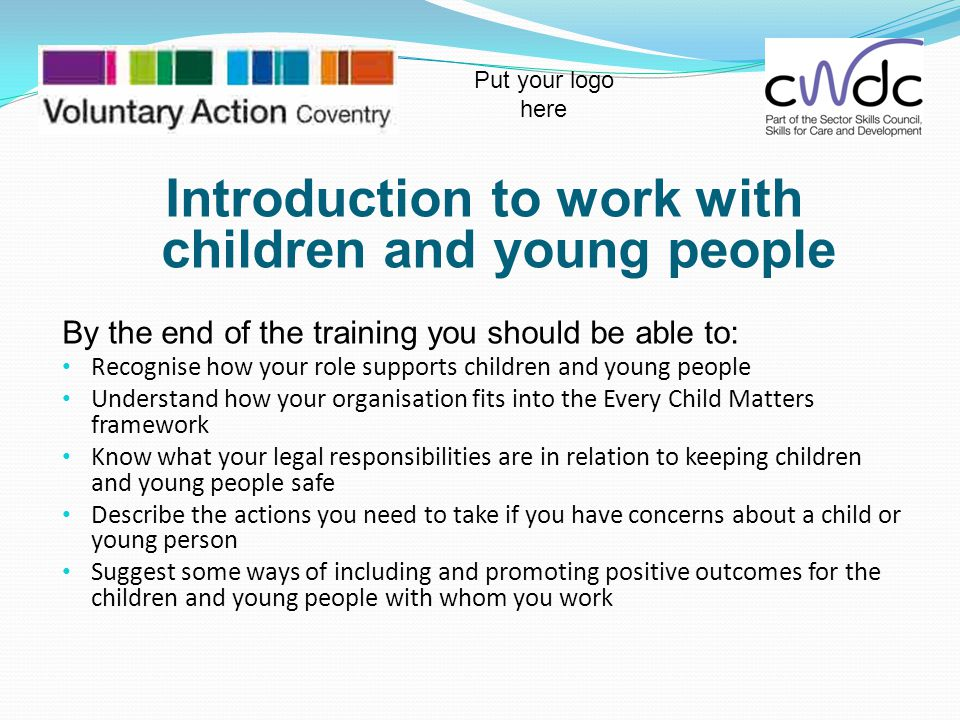 Introduction to work with children and young people