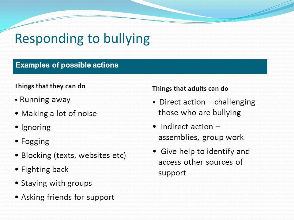 Responding to bullying