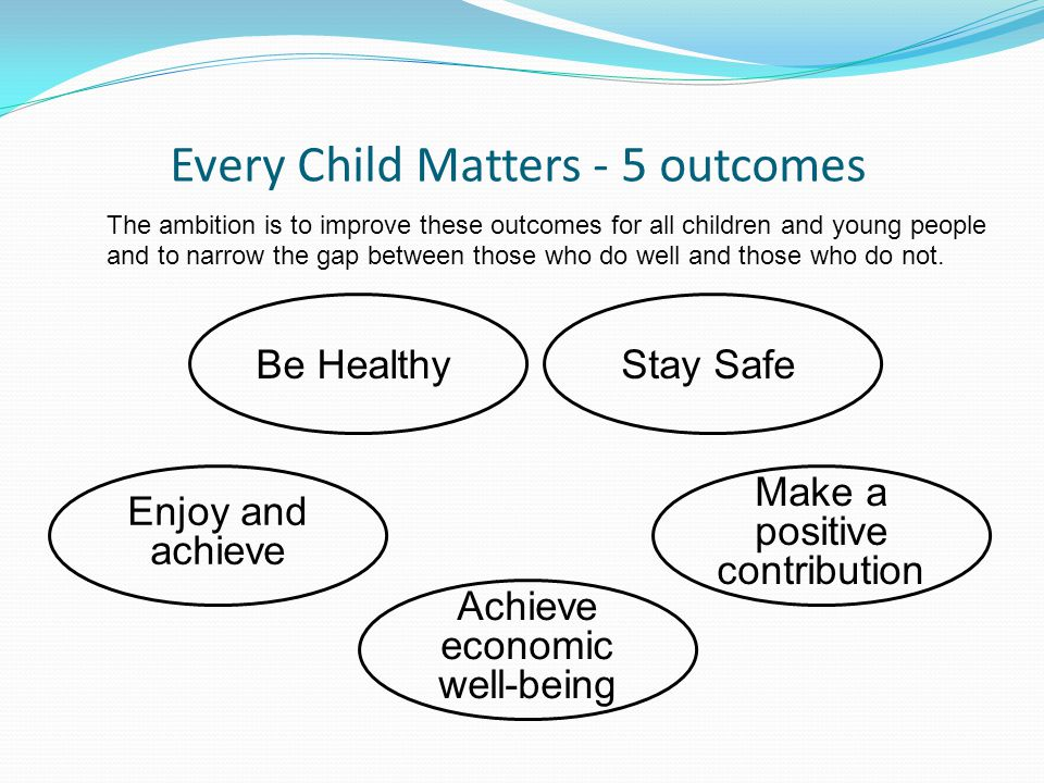 Every Child Matters - 5 outcomes