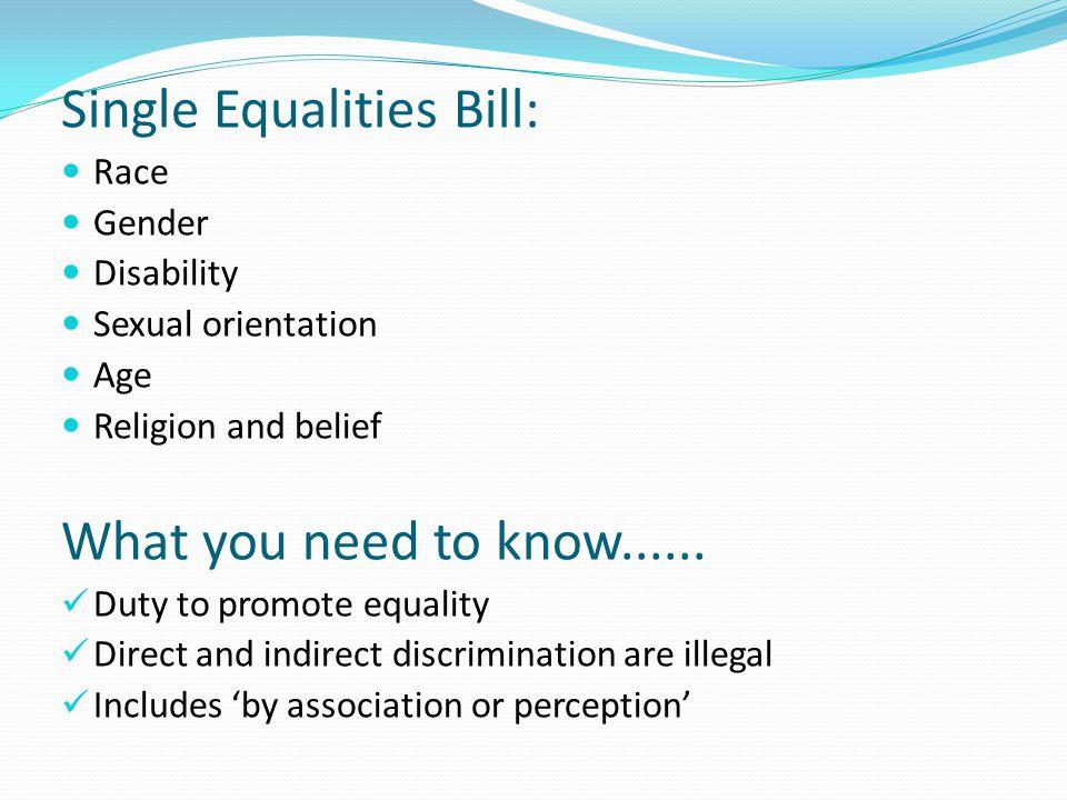 Single Equalities Bill:
