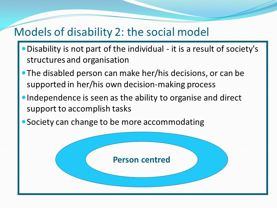 Models of disability 2: the social model