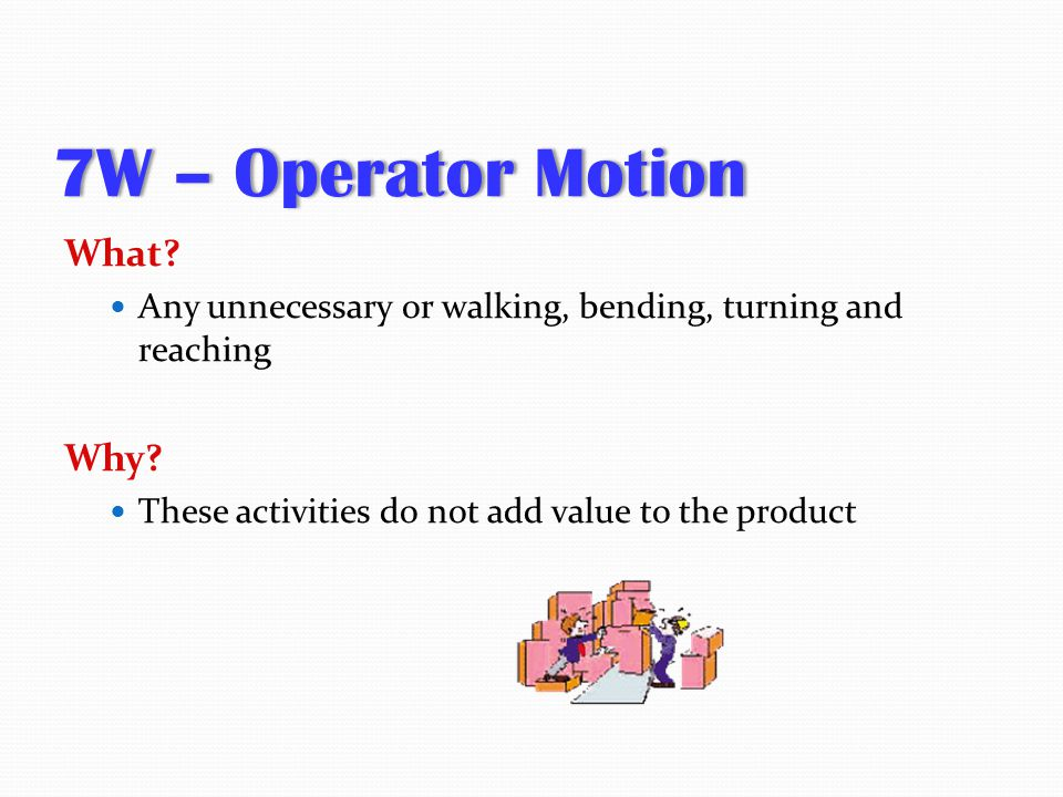 7W – Operator Motion What Why