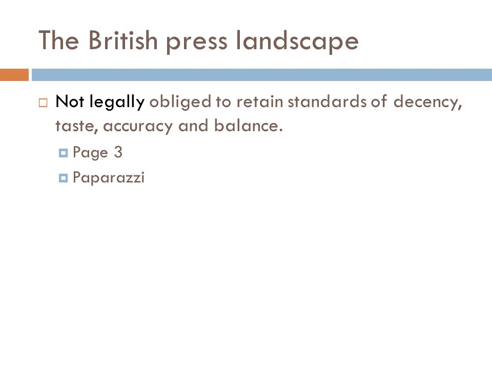The British press landscape