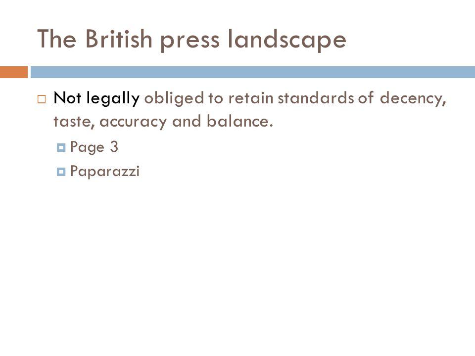 The British press landscape