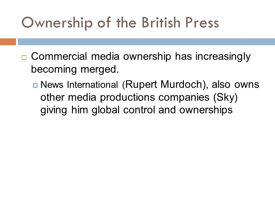 Ownership of the British Press