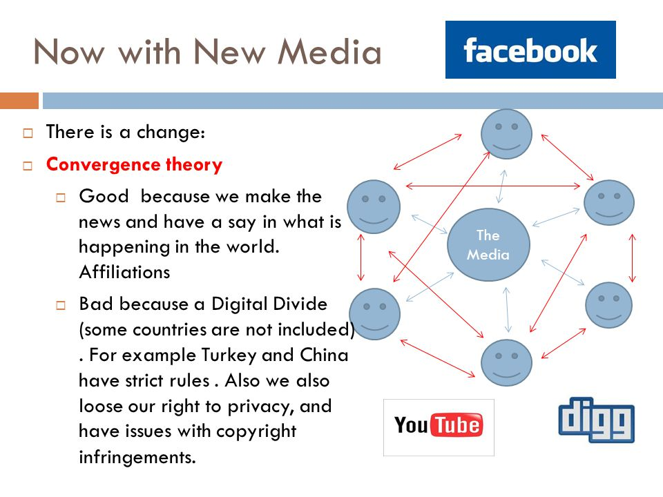 Now with New Media There is a change: Convergence theory