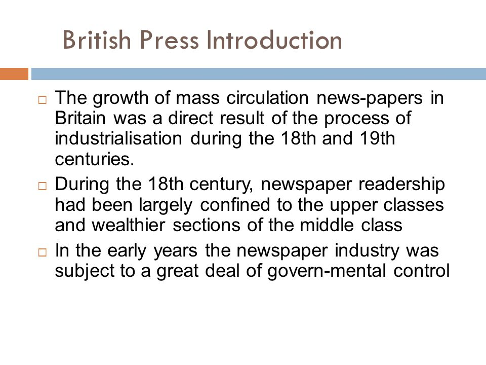 British Press Introduction
