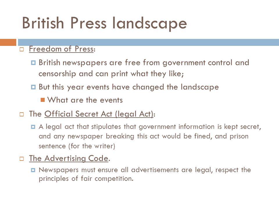 British Press landscape