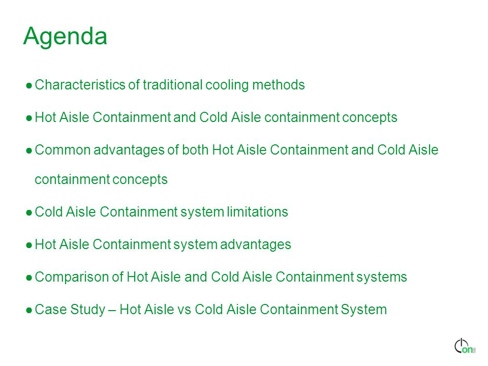 Agenda Characteristics of traditional cooling methods