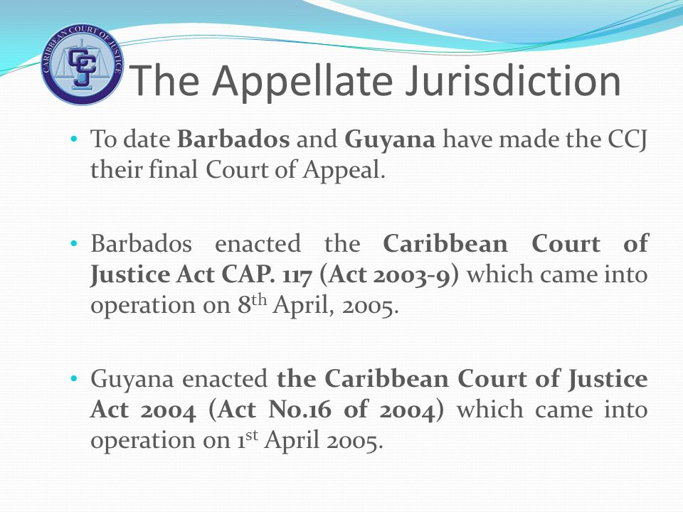 The Appellate Jurisdiction