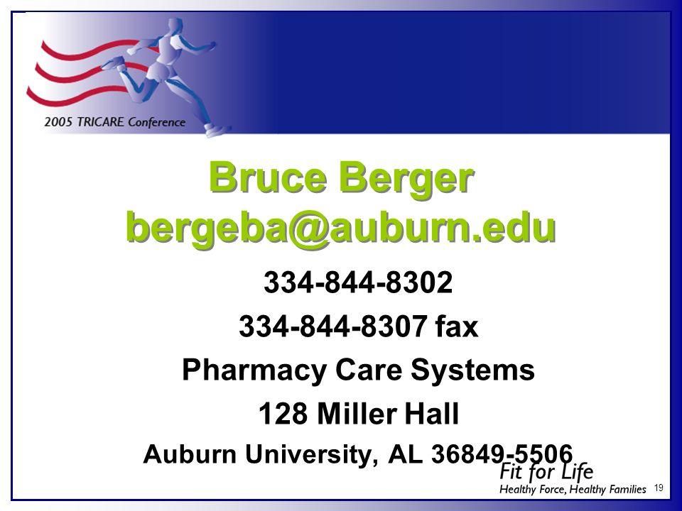 Bruce Berger bergeba@auburn.edu