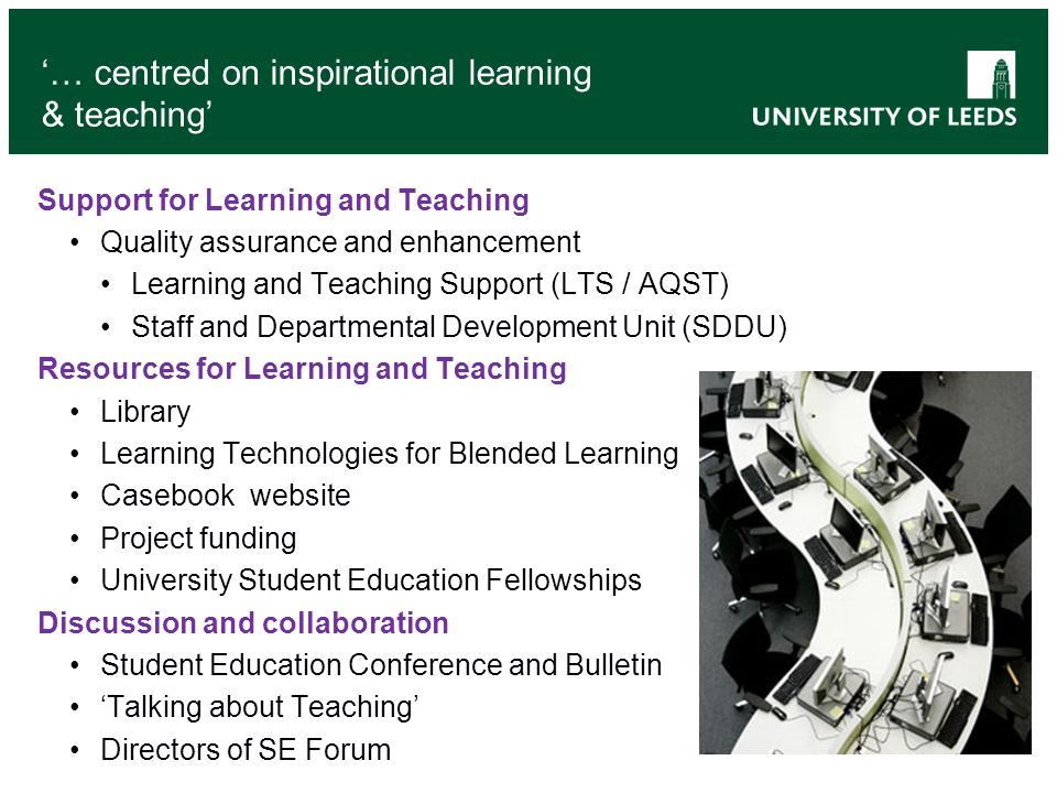 '… centred on inspirational learning & teaching'