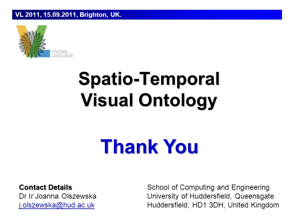 Spatio-Temporal Visual Ontology