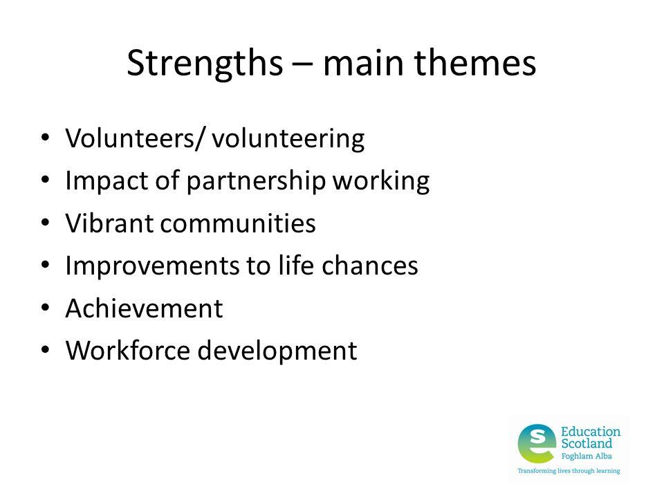 Strengths – main themes
