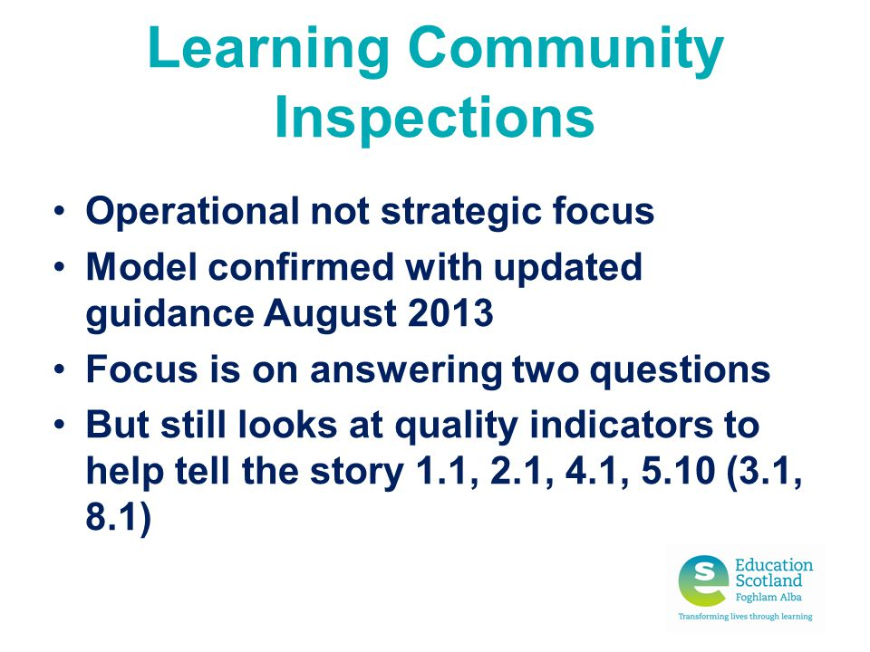 Learning Community Inspections