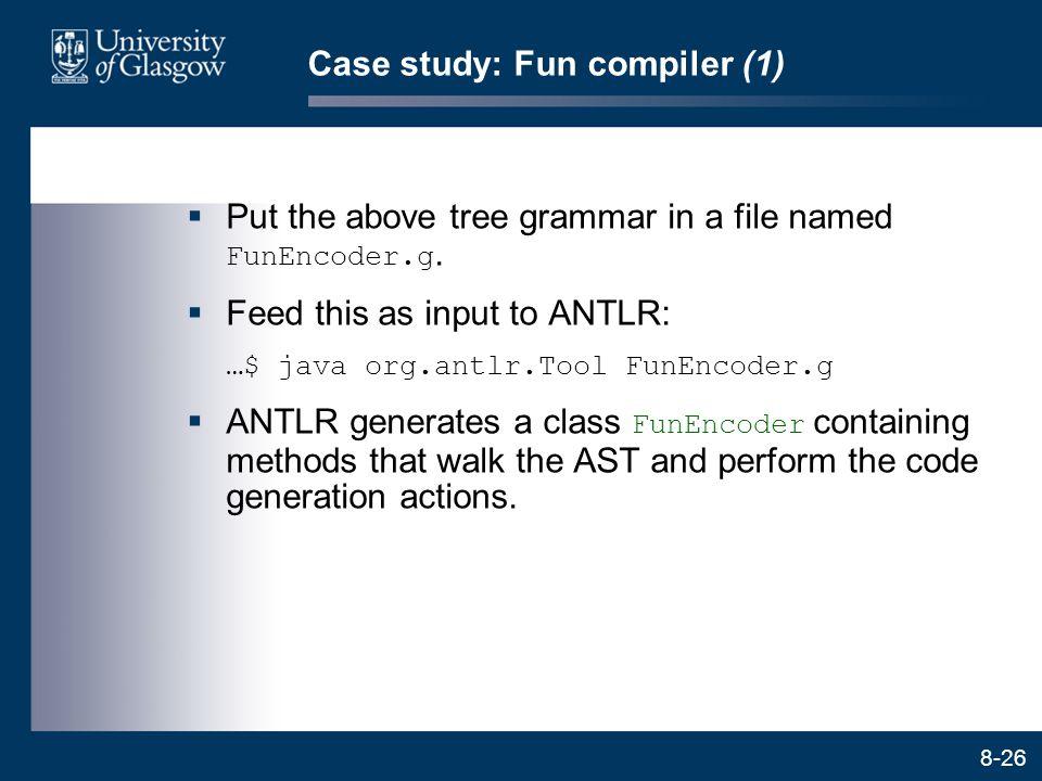 Case study: Fun compiler (1)